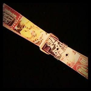 Movie-themed novelty belt w buckle-sz XL